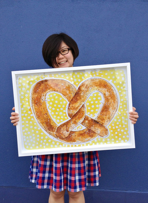 Giant NYC Love Heart Pretzel