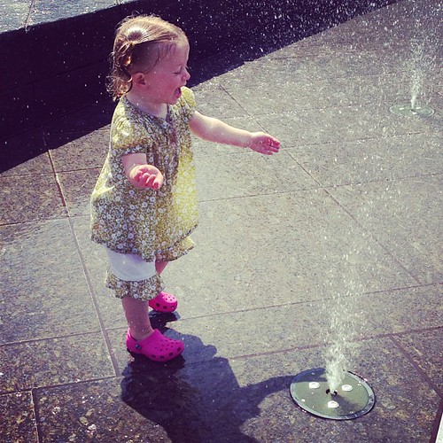 Enjoying Life #fmsphotoaday After enjoying some fro-yo, we took Molly to the water park.  She was thrilled!