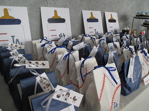 Dodgers and Yankees goodie bags