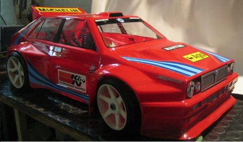 1992 Lancia delta  integrale clear 1 mm lexan body eighth scale