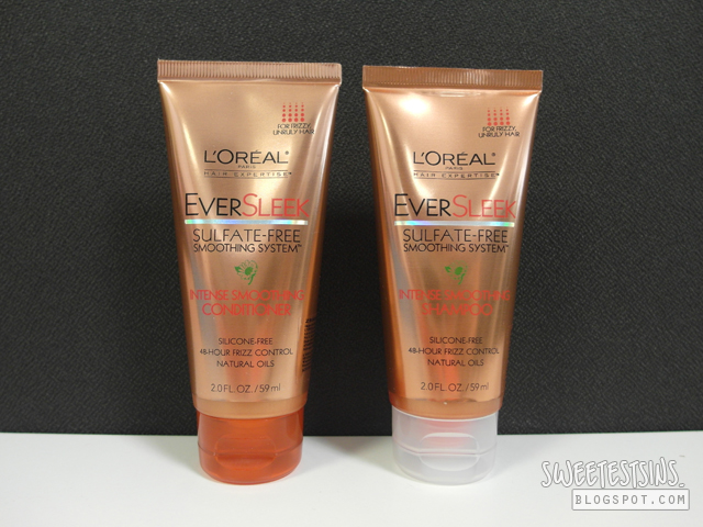 loreal eversleek intense smoothing shampoo and conditioner review