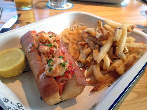 Hot Lobster Roll at Connie and Ted's