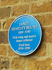 Photo of Janet Heatley Blunt blue plaque