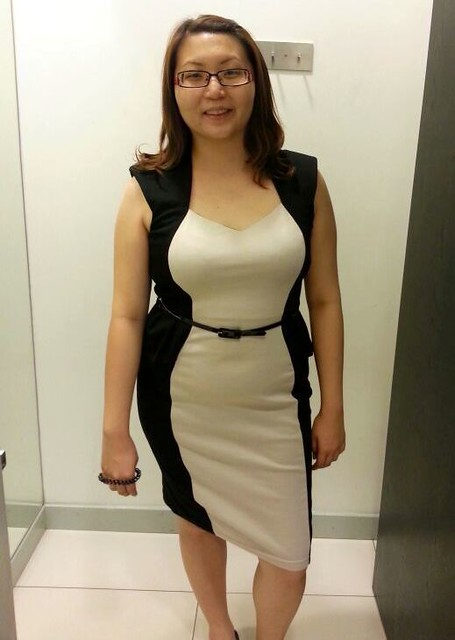 Redressing Suanie - black and cream dress