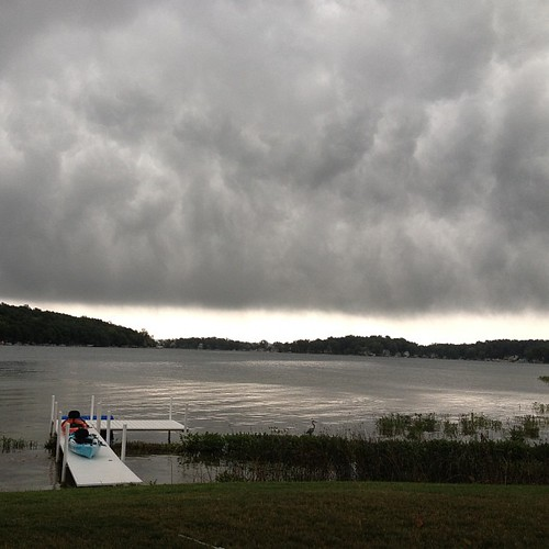 Ominous clouds moving in. #nofilter #lakejamesindiana