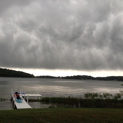 Ominous clouds moving in. #nofilter #lakejamesindiana