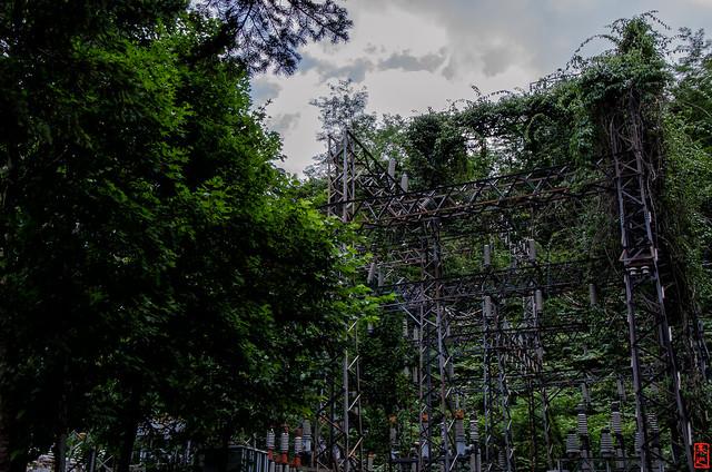 「変電所跡地」 三笠市幌内 - 北海道