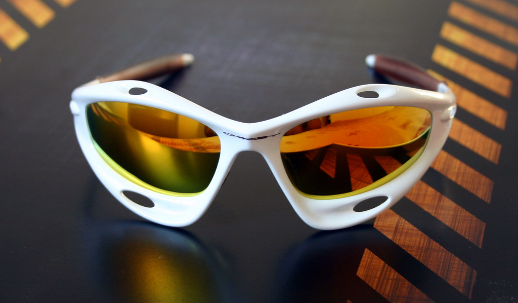 52c21df42b ... Oakley Racing Jacket White Pearl + Fire iridium (Oakley lens)