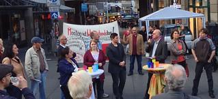 Montagsdemo Bochum mit Bundestagskandidaten