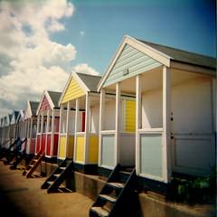 sunny beach huts