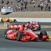 Dario Franchitti leads teammate Scott Dixon through the Turn 9 chicane during the GoPro Grand Prix of Sonoma