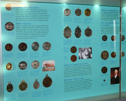 National Museum of Ireland medal exhibit