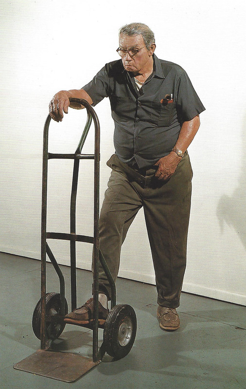 Duane Hanson, Man with Hand Truck, 1975