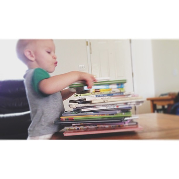 "I said ""do you want me to read another book?"" He said ""No. All of them"" ha!"