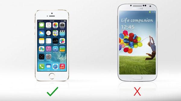iPhone 5s vs. Galaxy S4