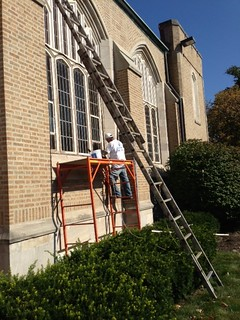 Windows Being Prepared for Painting