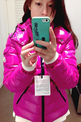 336d17155cbe Welcome to FABBYLIFE  Moncler bady down jacket   Torn peplum sweater ...