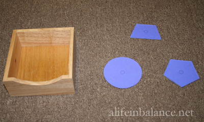 Homemade Montessori: Geometric Inserts