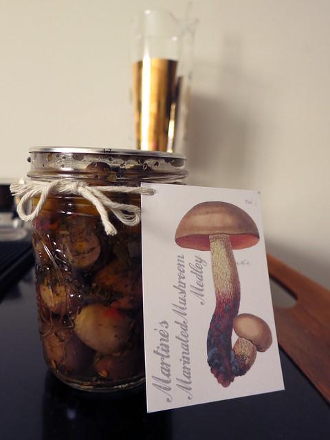 Martine's Marinated Mushroom Medley