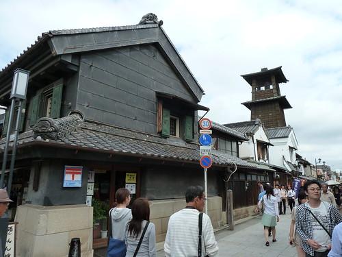 川越 時の鐘 蔵造りの町並み