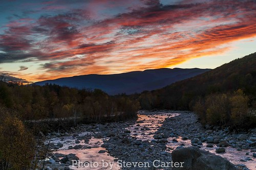 Lincoln New Hampshire Sunset by satdishguy