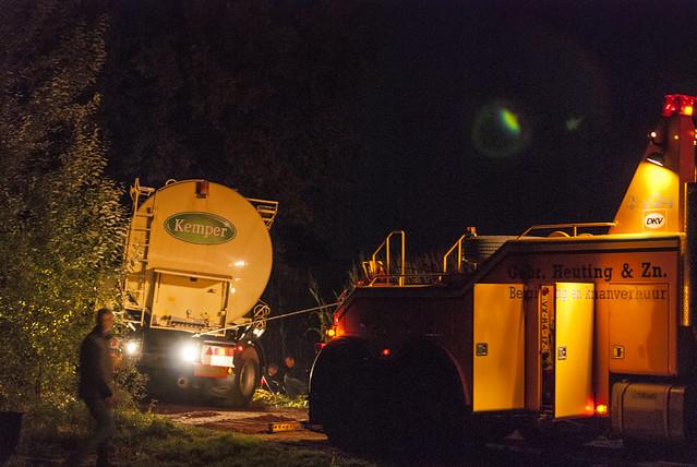 2013-10-14 Bergen Vrachtauto met oplegger