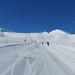sjezd z italské Plateau Rosa dolů na švýcarskou stranu