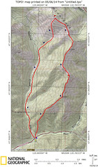 Route Map for Freedom Peak