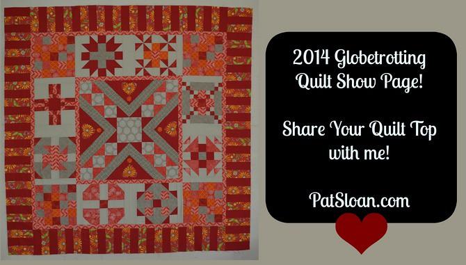 Pat Sloan 2014 Globetrotting Quilt Show banner
