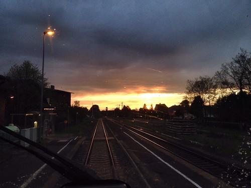 Sunset at Bahnhof Schleife