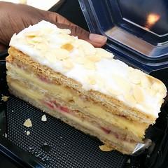 Second Birthday Freebie Retrieved from La Madeleine...a awesome Strawberry Napoleon pastry lol. #April19th2015FSunday
