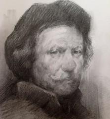 Estudo de um desenho de Rembrandt #grafite #rembradt #oldmaster #fineart #desenho #drawing #art