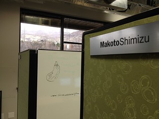 Cubicleの後ろには個人用Whiteboard