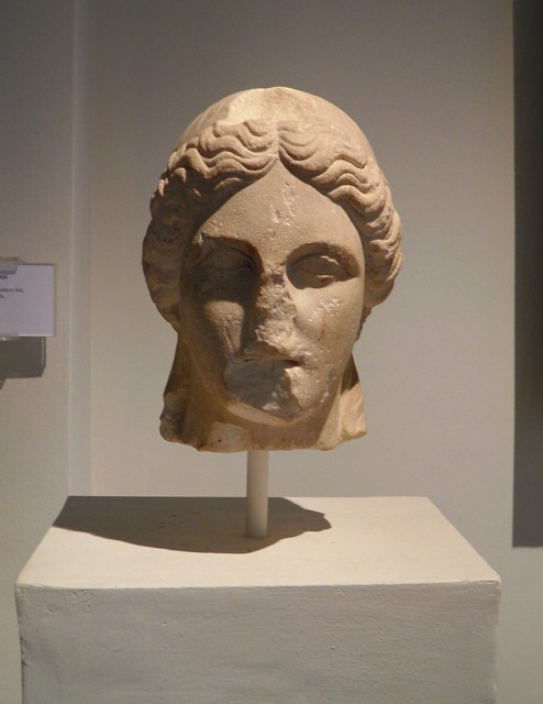 Marble head of the statue of Isis, from the sanctuary of Isis, Archaeological Museum, Dion