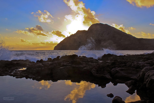 Makapu`u tidepool – the sun rises on another year