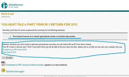 纽西兰IRD网上退税简单步骤