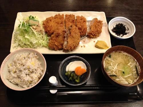 松坂牛メンチ&ロースカツ膳