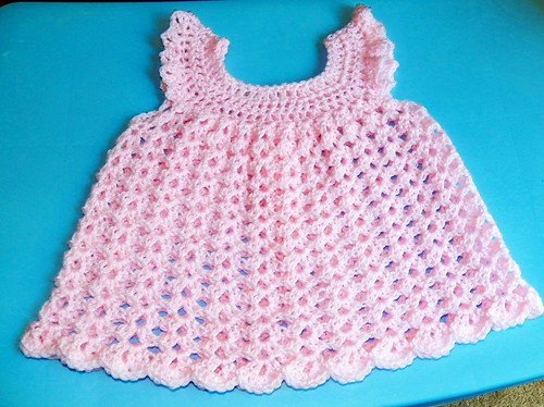 Pink Angel Dress by Crochet Attic