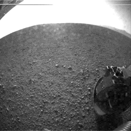NASA Curiosity, first image without dust cover