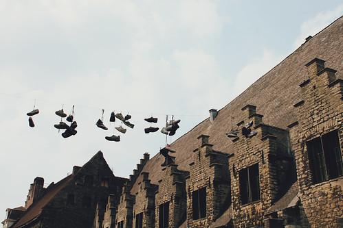 marche sur le toit..