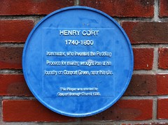 Photo of Henry Cort blue plaque