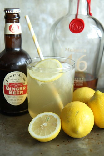 Lemon Ginger Bourbon Fizz