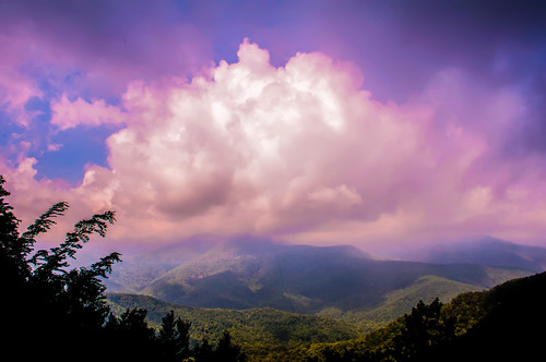 Blue Ridge Parkway Scenic Mountains Overlook by DigiDreamGrafix.com