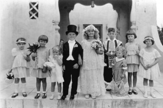 Children dressed up for a mock wedding: Coral Gables, Florida