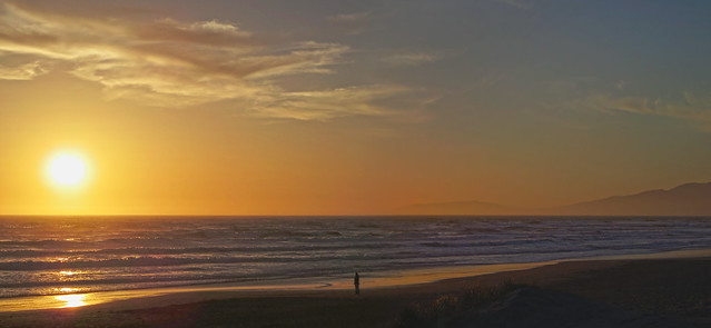 Sunset at Ocean Beach, San Francisco (2013)