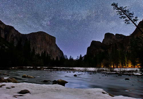 Milky Way Over Yosemite National Park's Valley View