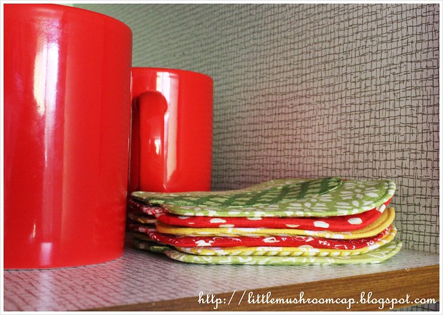 Bell Pepper Coaster, Patchwork Please, Ayumi Takahashi handmade Coaster
