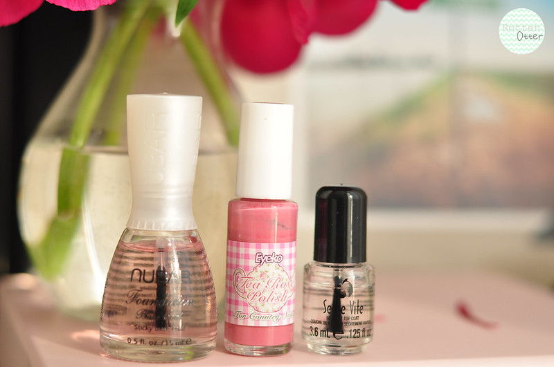 notd eyeko tea rose nail polish pink creme rottenotter rotten otter blog 2