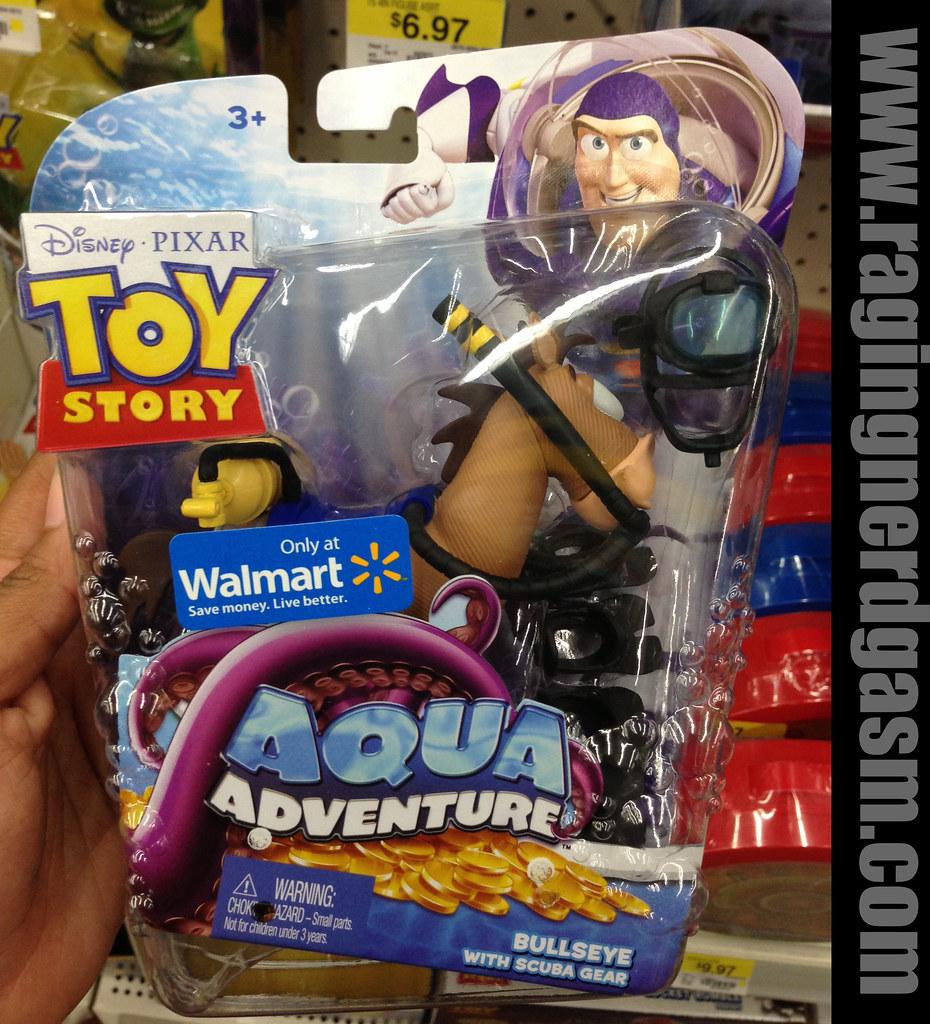 Disney's Pixar Toy Story Walmar Exclusive Aqua Adventure bullseye with scuba gear