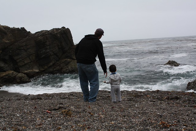 hold dad's hand!